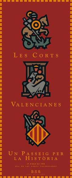 Corts Valencianes by Pepe Gimeno Proyecto Gráfico, via Behance