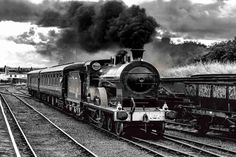 Steam Train of The Railway Preservation Society at Whitehead British Rail, Saddles, Transportation, Explore, Trains, Image, Black, Roping Saddles, Black People