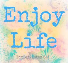 Enjoy Life!! Ecclesiastes 6:8 :) @DaniseJurado