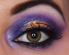 Purple Gold Eye Makeup