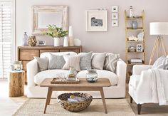 Neutral Coastal Living Room Decor Ideas with a Beach Vibe from House to Home - Coastal Decor Ideas and Interior Design Inspiration Images Living Room Storage, Room Design, Living Room Color, Interior, Coastal Living Room, Living Room Scandinavian, Home Decor, Coastal Decorating Living Room, Living Decor