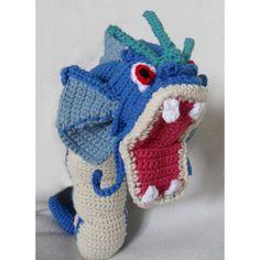 Crochet Gyarados Pokemon by TheQuaintCuddlefish on Etsy Pokemon Crochet Pattern, Crochet Animal Patterns, Stuffed Animal Patterns, Crochet Patterns Amigurumi, Crochet Dolls, Crochet Crafts, Crochet Projects, Pokemon Craft, Crochet Monsters