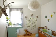 La chambre nature et poétique de Noah - Déco chambre bébé garçon mixte #babyroom…