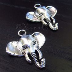 5PCs Elephant Wholesale Silver Plated Pendant Charms - C3915