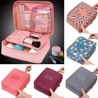 Geek | Neceser Rushed Floral Nylon Zipper New Women Makeup bag Cosmetic bag Case Make Up Organizer