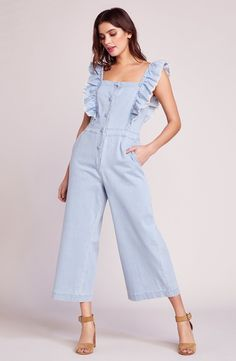 a3c6d7541f76 In cool chambray with sweet flutter sleeves and a modern back cutout ...