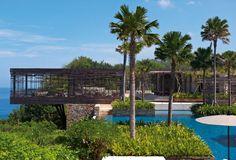 Contemporary cliff-hanger Balinese Alila Villas Uluwatu resort in Bali by WOHA Architects