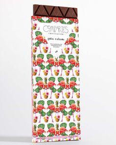 PINA COLADA pineapple flamingo palm tree chocolate bar compartes LA - Compartes Chocolatier Gourmet Chocolate