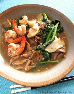 Fried Hor Fun - Fried flat rice noodle