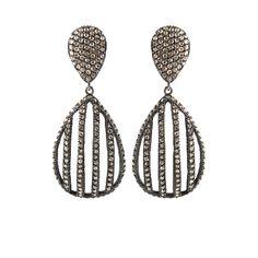 Yossi Harari: Lilah Cage Drop Diamond Earrings