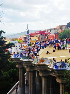 Parc Guell, Barcelona, I went here years ago and photos.do not do it justice,  amazing!