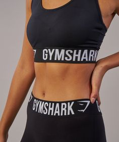 9e68954c919e3 Gymshark Fit Sports Bra - Black White 4 Workout Vest