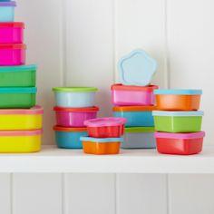 Set of Twelve Multi-coloured Tupperware