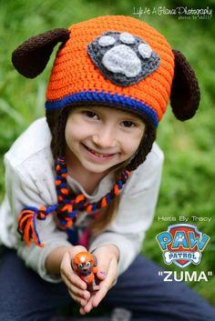 Paw Patrol Zuma, Chase, Marshall, Puppy Crochet Hat, Newborn and Photo Prop, Children's  Firetruck Hat by HatsByTracy on Etsy