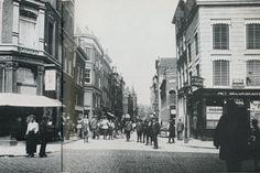 De Heerenstraat in Rotterdam rond 1915, de straat waar Pietje Bell ondeugend was en groot werd