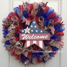 Memorial Day Wreath Fourth of July Wreath Americana Wreath
