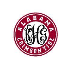 Alabama Crimson Tide inspired monogram instant download cut file - studio3, studio, svg, ps, eps, dxf (monogram font sold separately)