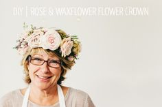 A Floral DIY Tutorial Showing You How To Create A Floral Crown Using Roses And Wax Flowers For Your Wedding.