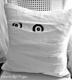 DIY Pottery Barn Mummy Decorative Pillow Knock Off