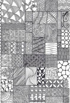 Minták doodles zentangles, tangle doodle, zentangle drawings, tangle art, d Zentangle Drawings, Doodles Zentangles, Zentangle Patterns, Doodle Drawings, Doodle Art, Zen Doodle Patterns, Doodle Borders, Mandala Pattern, Mandala Design