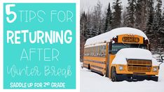 Coming back after winter break can be hard. This blog post shares five tips and ideas to keep in mind when returning to your classroom after winter break.
