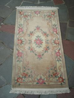 Chinese Aubusson Rug, Runner, x Aubusson Rugs, Oriental Rug, Rug Runner, Wool Rug, Carpets, Persian, Bohemian Rug, Chinese, Romantic