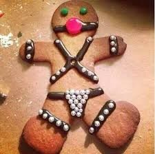 Funny gingerbread man decoration                                                                                                                                                                                 More