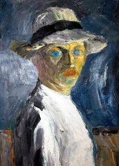Emil Nolde ~ Self-Portrait, 1917