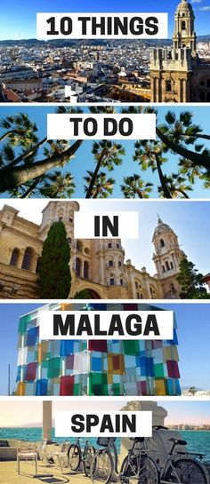 Malaga on Spain's Costa Del Sol is a buzzing city with more history, culture and great food than many cities put together. Find out the top things to do in Malaga your first visit. Benalmadena Spain, Torremolinos Spain, Places To Travel, Travel Destinations, Holiday Destinations, Malaga City, Alicante, Spain And Portugal, Spain Travel