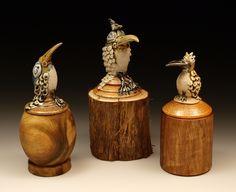 Birds w/ Frank Stepanski wood turnings.