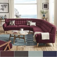 Shop for Niels Danish Modern Tufted Fabric 7-seat L-Shaped Sectional by MID-CENTURY LIVING. Get free delivery at Overstock.com - Your Online Furniture Shop! Get 5% in rewards with Club O!