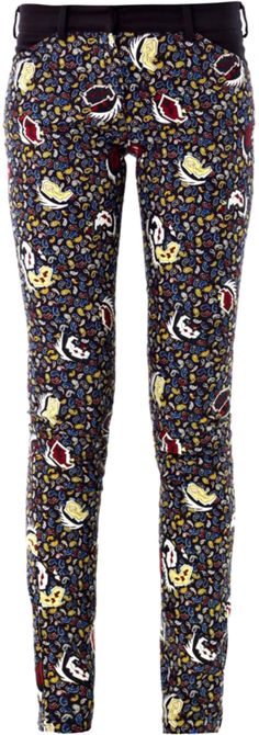 Balenciaga's paisley-print skinny jeans see a bohemian motif re-worked with plenty of rock 'n' roll attitude. A zipped hem keeps this pair skin-tight – ideal for tucking inside heavy-duty biker boots.