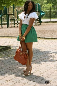 Love the color combo in this outfit.  Shop Now Save Later Blog.