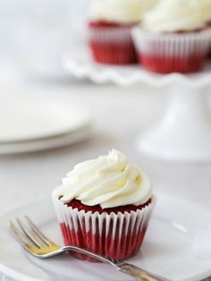 Gluten Free Red Velvet Cupcake - nothing says I love you like red velvet cake