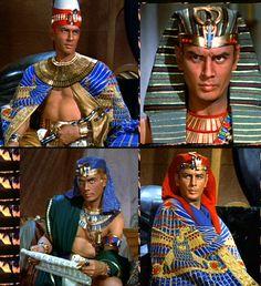 Yul Brenner as Pharaoh Rameses II in Cecil B. De Mille's Ten Commandments (1956)