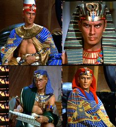 Yul Brenner as Pharaoh Rameses II in Cecil B. De Mille's Ten Commandments (1956)