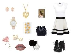 """""""Sin título #5"""" by alisvette ❤ liked on Polyvore featuring Lipsy, Ankit, Lacoste, Kate Spade, Kenneth Jay Lane and Lime Crime"""