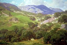 """Hanson Puthuff (1875-1972), """"Topanga in the Spring;"""" o/c, 24"""" x 36"""", Collection of The Irvine Museum"""