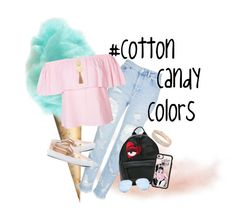 """#CottonCandyColors"" by dancelover-567 ❤ liked on Polyvore featuring Topshop, Chiara Ferragni, Vans, Casetify, Gorjana, GUESS and Anne Klein"