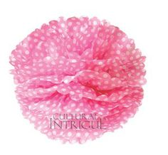 Luna Bazaar Tissue Paper Pom Pom Polka Dots, Single) - Hanging Paper Flower Ball Decor for Weddings, Bridal and Baby Showers, Nurseries, Parties Polka Dot Balloons, Pink Polka Dots, Pink Stripes, Paper Flower Ball, Paper Flowers, Tissue Pom Poms, Tissue Paper, Pom Pom Decorations, Fairy Birthday Party