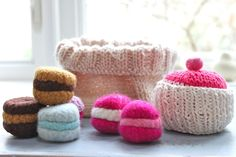 Knitted Basket of Goodies