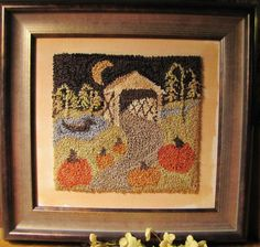 Primitive Punch Needle Pumpkin Walk by thecooperscottage on Etsy, $134.95