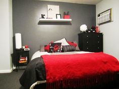 Black White and Red Bedroom Decorations