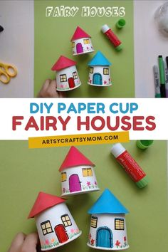 Paper Cup Miniature Village Craft