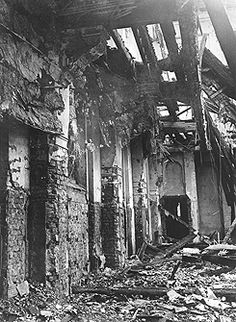 "Kristallnacht. A ""violent series of pogroms, which flared up across Germany and Austria through November 9 and 10 [1938]."" A young Jewish refugee had assassinated the German diplomat Ernst vom Rath. ""When the news of vom Rath's death reached Nazi higher-ups, Joseph Goebbels made a speech in which he stated that 'the Führer has decided that… demonstrations should not be prepared or organized by the party, but insofar as they erupt spontaneously, they are not to be hampered.'"""