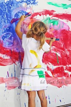 A guide to painting with children. I love these tips. Definitely will have some paint days this summer. Best tip is to water the washable paint down and put it in little paint buckets with several brushes for each kid.