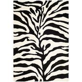 The Safavieh Zebra Shag Ivory Black 8 ft. x 10 ft. Area Rug is powerloomed and comes with modern colors. It is designed with long lasting polypropylene. It is recommended for professional cleaning and matches with any home decoration. Black Shag Rug, Black Rug, Black White, White Zebra, Thing 1, Black Animals, Floor Decor, Accent Rugs, Outdoor Area Rugs