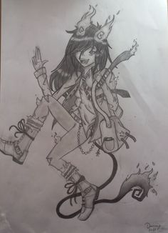 female Rin Okumura from ao-no exorcist