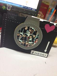 camera birthday card with photo