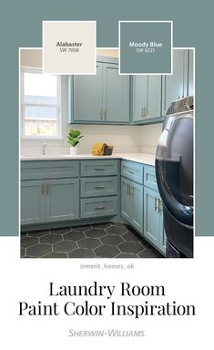 Blue Paint Colors, Room Paint Colors, Paint Colors For Home, House Colors, Repainting Cabinets, Laundry Room Colors, Farmhouse Paint Colors, Florida Home, Home Remodeling